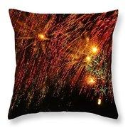 Richmond Fireworks Throw Pillow