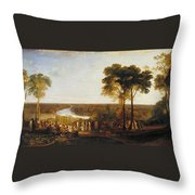 Richmond Hill On The Prince Regent's Birthday Throw Pillow