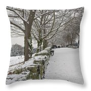 Richmond Hill Snow Throw Pillow