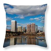 Richmond Skyline Throw Pillow