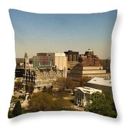 Richmond Virginia - Old And New Capitol Buildings Throw Pillow