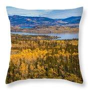 Richthofen Island Yukon Territory Canada Throw Pillow