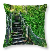 Rickety Stairs Throw Pillow