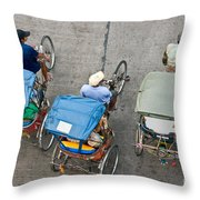Rickshaw Driver - Bangkok Throw Pillow