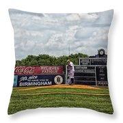 Rickwood Classic Baseball - Birmingham Alabama Throw Pillow