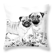 Ricky And Curly Throw Pillow