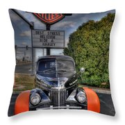 Ride A Harley Throw Pillow