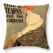 Ride A Stearns And Be Content Throw Pillow
