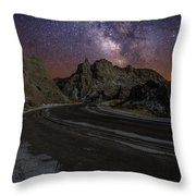 Ride Across The Badlands Throw Pillow