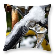 Ride On The Rocks Throw Pillow