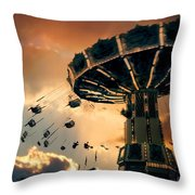 Ride The Clouds Throw Pillow
