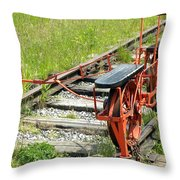 Ride The Rail Throw Pillow