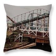 Ride The Roller Coaster Throw Pillow