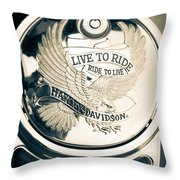 Ride To Live Throw Pillow