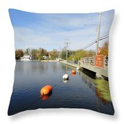 Rideau Canal Throw Pillow