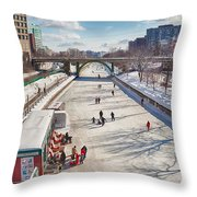 Rideau Skateway Throw Pillow