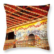 Rides At The Evergreen State Fair Throw Pillow
