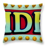 Rides Throw Pillow by Skip Willits