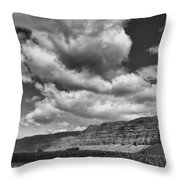 Ridges Black And White Throw Pillow