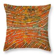 Ridges Encaustic Throw Pillow
