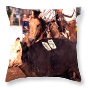 Riding And Roping Throw Pillow