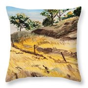 Riding By Back Road  Throw Pillow