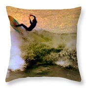 Riding High Throw Pillow by Karen Wiles
