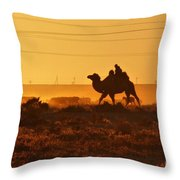 Riding Into The Sunset Throw Pillow
