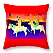Me And My Best Friends Forever Riding Off Together Into The Secret Adventure  Throw Pillow