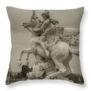 Riding Pegasis Throw Pillow