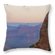 Riding The Air Currents Of The Grand Canyon Throw Pillow