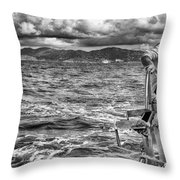 Riding The Crest Of The Wave Throw Pillow