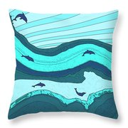 Riding The Current Throw Pillow