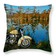 Riding The Mississippi Delta Throw Pillow