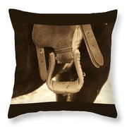 Riding The Range Throw Pillow