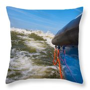 Riding The Storm. Throw Pillow