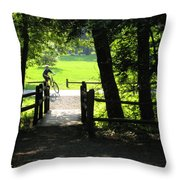 Riding The Trails Throw Pillow