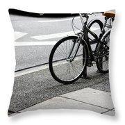 Riding Uptown Throw Pillow