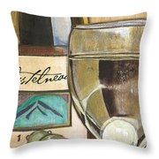 Riesling Throw Pillow by Debbie DeWitt