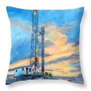 Rig 7 Throw Pillow