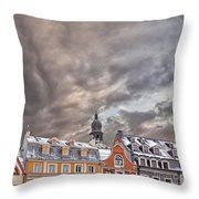 Riga Architecture Throw Pillow