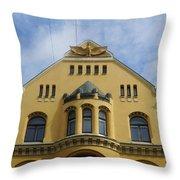 Riga Cat House Throw Pillow