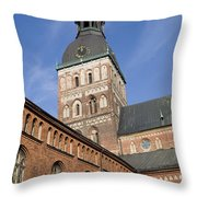 Riga Cathedral Throw Pillow