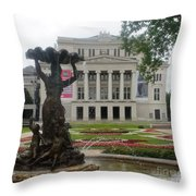 Riga National Opera House Throw Pillow