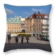 Riga Old Town 3 Throw Pillow