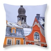 Riga Old Town Throw Pillow