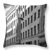 Riga Soviet Architecture 01 Throw Pillow
