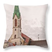 Riga St Johns Church Throw Pillow