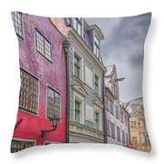 Riga Street Throw Pillow