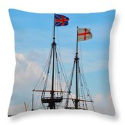Rigging And Flags Throw Pillow